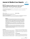 """Báo cáo y học: """"   Bilateral undisplaced insufficiency neck of femur fractures associated with short-term steroid use: a case report"""""""