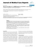 "Báo cáo y học: "" Acute renal failure in an AIDS patient on tenofovir: a case report"""