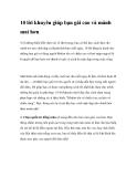 10 lời khuyên giúp bạn gái cao và mảnh mai hơn