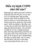 Điều trị bệnh COPD như thế nào?