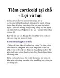 Tiêm corticoid tại chỗ - Lợi và hại