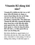 Vitamin B2 dùng khi nào?