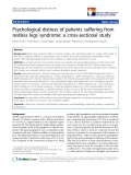 """báo cáo khoa học:"""" Psychological distress of patients suffering from restless legs syndrome: a cross-sectional study"""""""