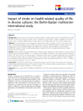 "báo cáo khoa học:"" Impact of stroke on health-related quality of life in diverse cultures: the Berlin-Ibadan multicenter international study"""