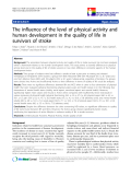 """báo cáo khoa học:"""" The influence of the level of physical activity and human development in the quality of life in survivors of stroke"""""""
