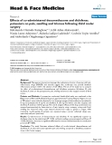 """báo cáo khoa học:"""" Effects of co-administered dexamethasone and diclofenac potassium on pain, swelling and trismus following third molar surgery"""""""