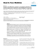 "báo cáo khoa học:""  Analysis of proliferative activity in oral gingival epithelium in immunosuppressive medication induced gingival overgrowth"""