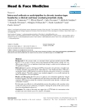 """báo cáo khoa học:""""  Intra-oral orthosis vs amitriptyline in chronic tension-type headache: a clinical and laser evoked potentials study"""""""