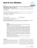 """báo cáo khoa học:"""" Histological analysis of the effects of a static magnetic field on bone healing process in rat femurs"""""""