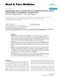 "báo cáo khoa học:"" Eating dysfunction associated with oromandibular dystonia: clinical characteristics and treatment considerations"""