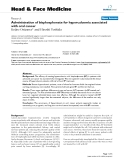 """báo cáo khoa học:"""" Administration of bisphosphonate for hypercalcemia associated with oral cancer"""""""