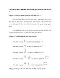 Các dạng bài tập Toán lớp 9: Biểu thức hữu tỉ-căn bậc hai-căn bậc ba