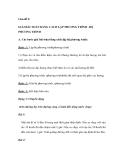 Toán lớp 9: Giải bài toán bằng cách lập phương trình - hệ phương trình