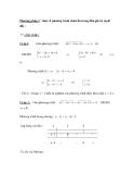 Phương pháp 2 : đưa về phương trình chứa ẩn trong dấu giá trị tuyệt đối