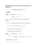 Phương pháp1: nâng lên luỹ thừa (Bình phương hoặc lập phương hai vế phương trình )