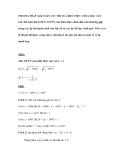 Phương pháp giải Toán cực trị của biểu thức chứa dấu căn