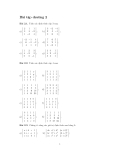 Bài tập toán cao cấp-Chương 2