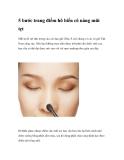 5 bước trang điểm hô biến cô nàng mũi tẹt
