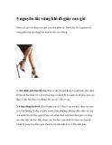 5 nguyên tắc vàng khi đi giày cao gót