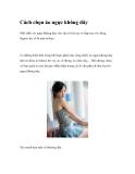 Cách chọn áo ngực không dây