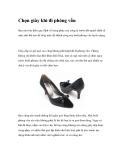 Chọn giày khi đi phỏng vấn