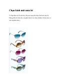 Chọn kính mát mùa hè