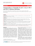 """Báo cáo y học: """"Seroprevalence of hepatitis B and C virus in HIV-1 and HIV-2 infected Gambians"""""""
