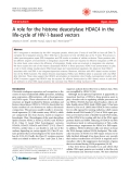 """Báo cáo y học: """"A role for the histone deacetylase HDAC4 in the life-cycle of HIV-1-based vectors"""""""