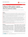 """Báo cáo y học: """"Profiling of cellular proteins in porcine reproductive and respiratory syndrome virus virions by proteomics analysis"""""""