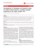 "Báo cáo y học: "" Serodiagnosis of sheeppox and goatpox using an indirect ELISA based on synthetic peptide targeting for the major antigen P32"""
