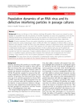 """Báo cáo y học: """" Population dynamics of an RNA virus and its defective interfering particles in passage cultures"""""""