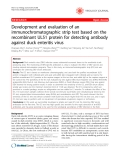 """Báo cáo y học: """" Development and evaluation of an immunochromatographic strip test based on the recombinant UL51 protein for detecting antibody against duck enteritis virus"""""""