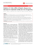 """Báo cáo y học: """"Deletion of 1.8-kb mRNA of Marek's disease virus decreases its replication ability but not oncogenicity"""""""
