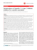 """Báo cáo y học: """" Seroprevalence of hepatitis C in type 2 diabetes: evidence for a positive association"""""""