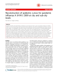 """Báo cáo y học: """" Reconstruction of epidemic curves for pandemic influenza A (H1N1) 2009 at city and sub-city levels"""""""