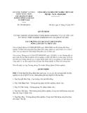 Quyết định số 358/QĐ-QLCL