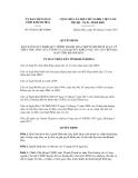 Quyết định số 39/2011/QĐ-UBND