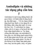 Amlodipin và những tác dụng phụ cần lưu ý