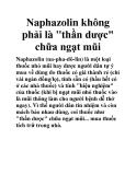 """Naphazolin không phải là """"thần dược"""" chữa ngạt mũi"""