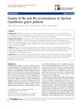 """báo cáo khoa học:""""  Quality of life and life circumstances in German myasthenia gravis patients"""""""