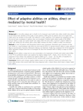 """báo cáo khoa học:"""" Effect of adaptive abilities on utilities, direct or mediated by mental health?"""""""