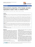 "báo cáo khoa học:""  Measurement properties of the benign prostatic hyperplasia impact index in tadalafil studies"""