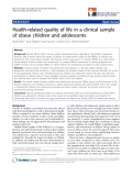 "báo cáo khoa học:""  Health-related quality of life in a clinical sample of obese children and adolescents"""
