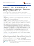"""báo cáo khoa học:"""" Health status of the advanced elderly in six european countries: results from a representative survey using EQ-5D and SF-12"""""""
