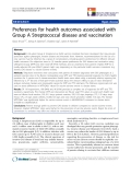 """báo cáo khoa học:""""  Preferences for health outcomes associated with Group A Streptococcal disease and vaccination"""""""