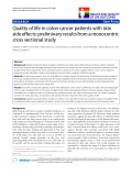 """báo cáo khoa học:"""" Quality of life in colon cancer patients with skin side effects: preliminary results from a monocentric cross sectional study"""""""
