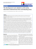 """báo cáo khoa học:""""  The development and validation of the daily electronic Endometriosis Pain and Bleeding Diary"""""""