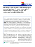 """báo cáo khoa học:"""" Reliability of 95% confidence interval revealed by expected quality-of-life scores: an example of nasopharyngeal carcinoma patients after radiotherapy using EORTC QLQ-C 30"""""""