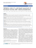 """báo cáo khoa học:""""  Validation study of a web-based assessment of functional recovery after radical prostatectomy"""""""
