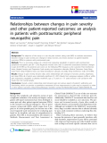 "báo cáo khoa học:"" Relationships between changes in pain severity and other patient-reported outcomes: an analysis in patients with posttraumatic peripheral neuropathic pain"""